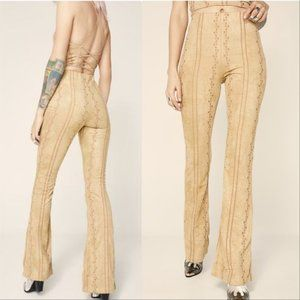Embroided Suede PantS